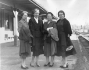 Ladies at the Depot, ca. 1945